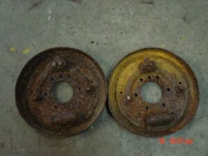 Willys closed knuckle front axle drum brake backing plates 303117 Bendix