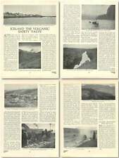 1923 Iceland Volcanic Safety Valve Old Article