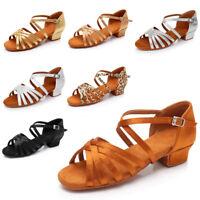 Brand new Women Children Girl's Ballroom Latin Tango Dance Shoes heeled Salsa