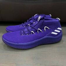 New Adidas Dame 4 Men's Basketball Shoes Purple Sz US 20 B76018 Damian Lillard
