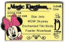 Disney Pin: WDW Cast Lanyard Series 3 Magic Kingdom Ticket (D/Minnie Mouse)
