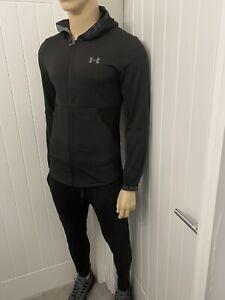 under armour Tracksuit Black Full Zipped Hooded Jacket Medium Men's bnwt £84.99