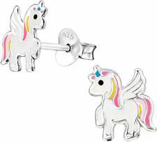 ICYROSE Sterling Silver Pegacorn unicorn with wings Girls Kids Stud Earring 3576