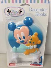 Vintage Disney Baby Wall Hanger Nursery Decor Mickey Mouse Clothes Coat Hangers
