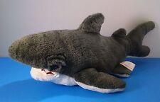 Fiesta Great White&Gray Shark Plush Stuffed Animal 17.5''