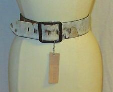NWT BRAVE 1992 HAIR CALF BELT W/SILVER METALLIC SPLOTCHES/OOAK-28