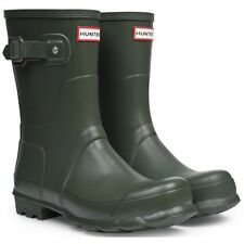 Hunter Wellies Womens Original Short - Dark Olive Uk5 Green
