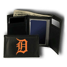 Detroit Tigers  Leather Tri-Fold Wallet [NEW] Black Trifold Billfold MLB CDG