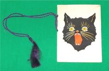 1934 HALLOWEEN CAMPUS DANCE OLD PAPER INVITATION CARD OKLAHOMA A&M BLACK CAT ART