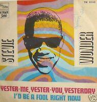 """STEVIE WONDER - YESTER-ME YESTER-YOU YESTERDAY 7"""" ITALY PS"""