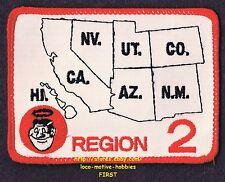 LMH PATCH Badge  GOOD SAM CLUB  State Map CA NV UT AZ CO NM HI Region 2 Samboree