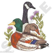 GOOSE AND MALLARDS NEW SET OF 2 BATH HAND TOWELS EMBROIDERED BY LAURA