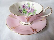 Queen Anne Cup Saucer - Pink - Violets