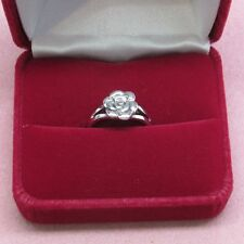 Sterling Silver single Rose design ring band style 925 Sterling Silver size 8 b1
