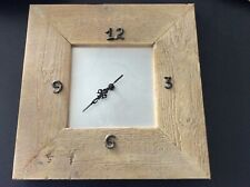 "Wooden framed wall clock 15"" x 15"". Battery operated"
