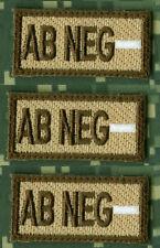 "AFG-PAK JSOC SPECIAL WARFARE OPERATOR BLOOD-TYPE 1""X2"" vel ⚙ 3-TAB SET: AB NEG"