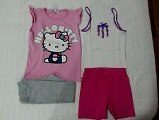 lotto 620 stock abbigliamento bimba bambina 4/5 anni hello kitty