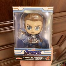 Genuine Hot Toys Cosbaby toy figure captain america unmasked Marvel avengers