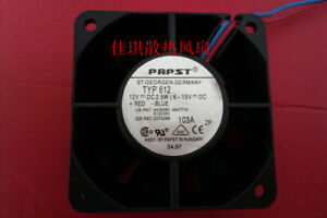 1pcs  papst TYP 612 6025 12V 2.5W cooling fan