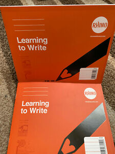 RHINO Learn To Write Book A5 Books Wide & Narrow Ruled new Learner writing book