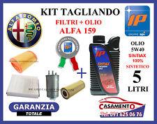 KIT TAGLIANDO FILTRI + OLIO IP 5W40 ALFA 159 2.4 JTD 200CV 210CV 2005 IN POI