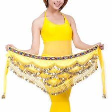 US2 Womens Belly Dance Hip Scarf Dancing Coins Waist  Belt Chain Skirt wave Wrap