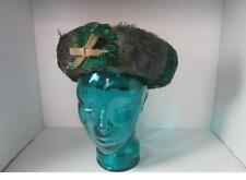 Vintage Jack MCconnell Boutique Hat feathers Bow Rhinestone