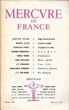 MERCURE DE FRANCE n° 1141 .  Septembre 1958 .