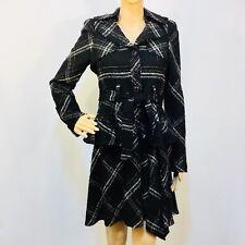 NANETTE LEPORE 2PC Dress and Jacket, Black/wte, size 2