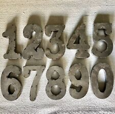 """8"""" Rustic Farmhouse Metal Address Numbers - 0-9 available"""