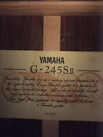 YAMAHA G 245 S II Classical Guitar with case