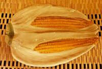 Corn on the Cob 🌽Platter Ceramic VINTAGE made In Japan Stamped P.T.