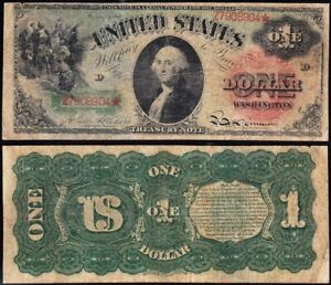 """Awesome RARE 1869 $1 """"RAINBOW"""" Legal Tender Note! FREE SHIPPING! Z7908904*"""