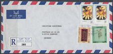 1997 Kuwait R-Cover DASMAH to Germany, Blumen Flowers [ck089]