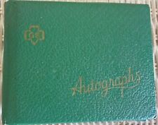 1956 Original & Rare Official GIRL SCOUT AUTOGRAPH BOOK  LooK!