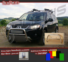 MITSUBISHI OUTLANDER 06-09 BULL BAR WITHOUT AXLE BARS +GRATIS! STAINLESS STEEL