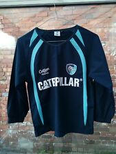BOY'S LEICESTER TIGERS COTTON TRADERS NAVY TRAINING WINDY TOP SIZE SB VGC