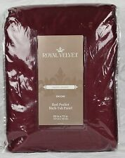 "New Royal Velvet Encore Lined Rod-Pocket Back-Tab Panel 50"" x 72"" Palmetto Red"