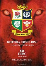 British & Irish Lions Rugby 2013 Tour Australia Guida Ufficiale Media