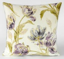 """New Laura Ashley Fabric Gosford Plum Cushion Cover 16"""" Floral Linen Cotton Mix"""