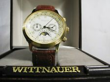 Longines Wittnauer Mens Swiss Dress Watch - Calendar, Day, World Time, Moonphase