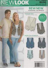 From UK Sewing Pattern Unisex Waistcoats 6 -16 # 6036