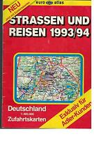 Strassen und Reisen - Deutschland Zufahrtskarten Adler - 1993