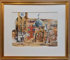 Campo dei Santi Apostoli, Venice. Watercolour by listed artist Stephen Kite FRSA