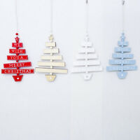 Home Decor Gifts Mini Desktop Wooden Ornaments Xmas Tree Christmas Decoration