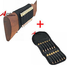 9 Round Butt Stock Rifle Shell Holder + 12 Shell Rifle Ammo Bag for .30-06 303