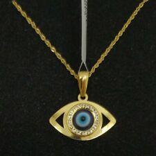 Anhänger Und Kette Gold 18k. Auge Türkisch 19 MM