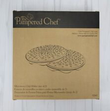 Pampered Chef Microwave Chip Maker Set of Two #1241