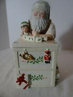 Lenox Santa's Holiday Toy Shop Workbench Cookie Jar