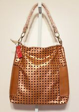 """Chinese Laundry Rose Gold Bronze Hobo Tote Shoulder Bag Purse Large 15""""×17""""×4"""""""